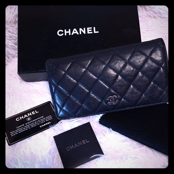 CHANEL Handbags - Chanel CC Matelasse Bifold Long Wallet